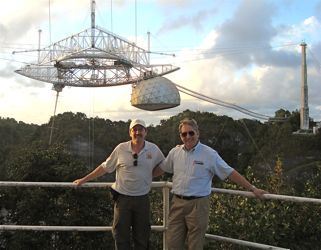 The Arecibo Observatory in the remote and hilly area of central Puerto Rico