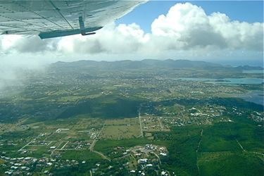 Climb out from Antigua