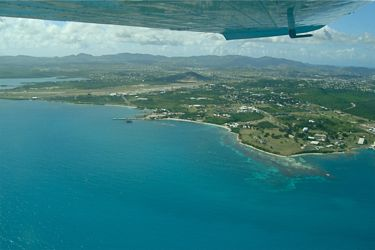 Off the ground at V C Bird Airport, Antigua