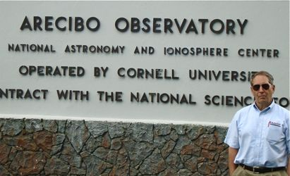 Jack Henion at Arecibo Observatory